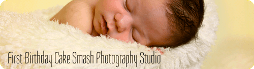 First Birthday Cake Smash Photography Studio